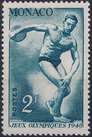 Monaco 1948 Summer Olympics, London - Regular Stamps c.jpg