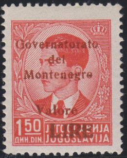 Montenegro 1941 Yugoslavia Stamps Surcharged under Italian Occupation k.jpg