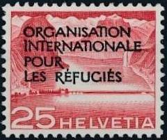 Switzerland 1950 Landscapes and Technology Official Stamps for The International Organization for Refugees e.jpg
