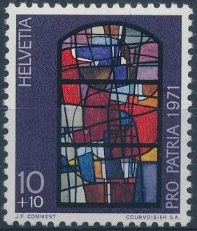 Switzerland 1971 PRO PATRIA - Contemporary Stained Glass Windows