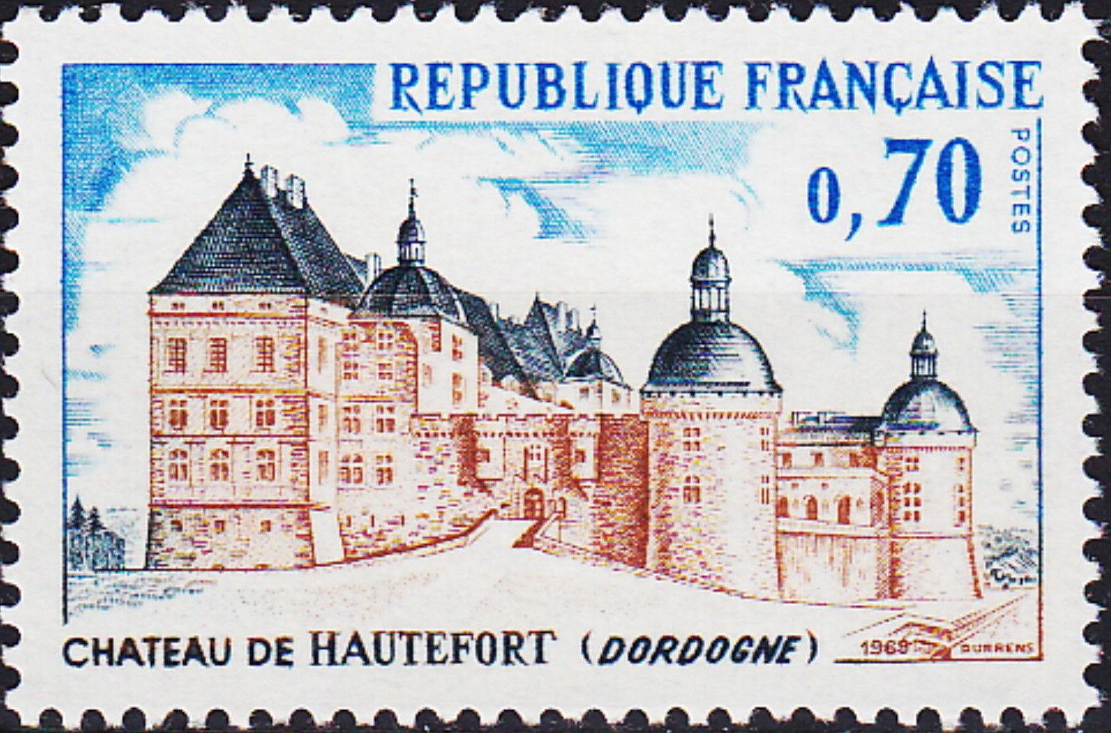 France 1969 Tourism - Hautefort Chateau