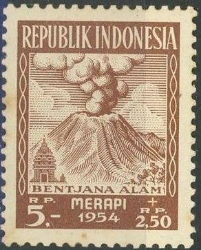 Indonesia 1954 Surtax for Victims of the Merapi Volcano Eruption h.jpg