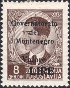 Montenegro 1941 Yugoslavia Stamps Surcharged under Italian Occupation g.jpg