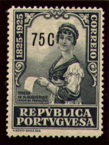 Portugal 1925 Birth Centenary of Camilo Castelo Branco r.jpg
