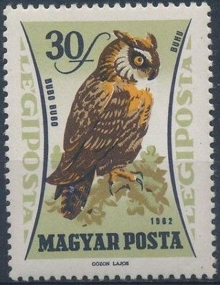 Hungary 1962 65th Anniversary of the Agricultural Museum - Birds of Prey
