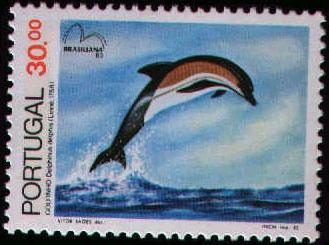 Portugal 1983 Brasiliana 83 - International Stamp Exhibition - Marine Mammals b.jpg