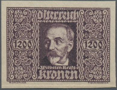 Austria 1922 Air Post Stamps (Common Kestrel and Wilhelm Kress) 1st Group i.jpg