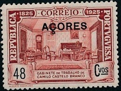 Azores 1925 Birth Centenary of Camilo Castelo Branco j.jpg