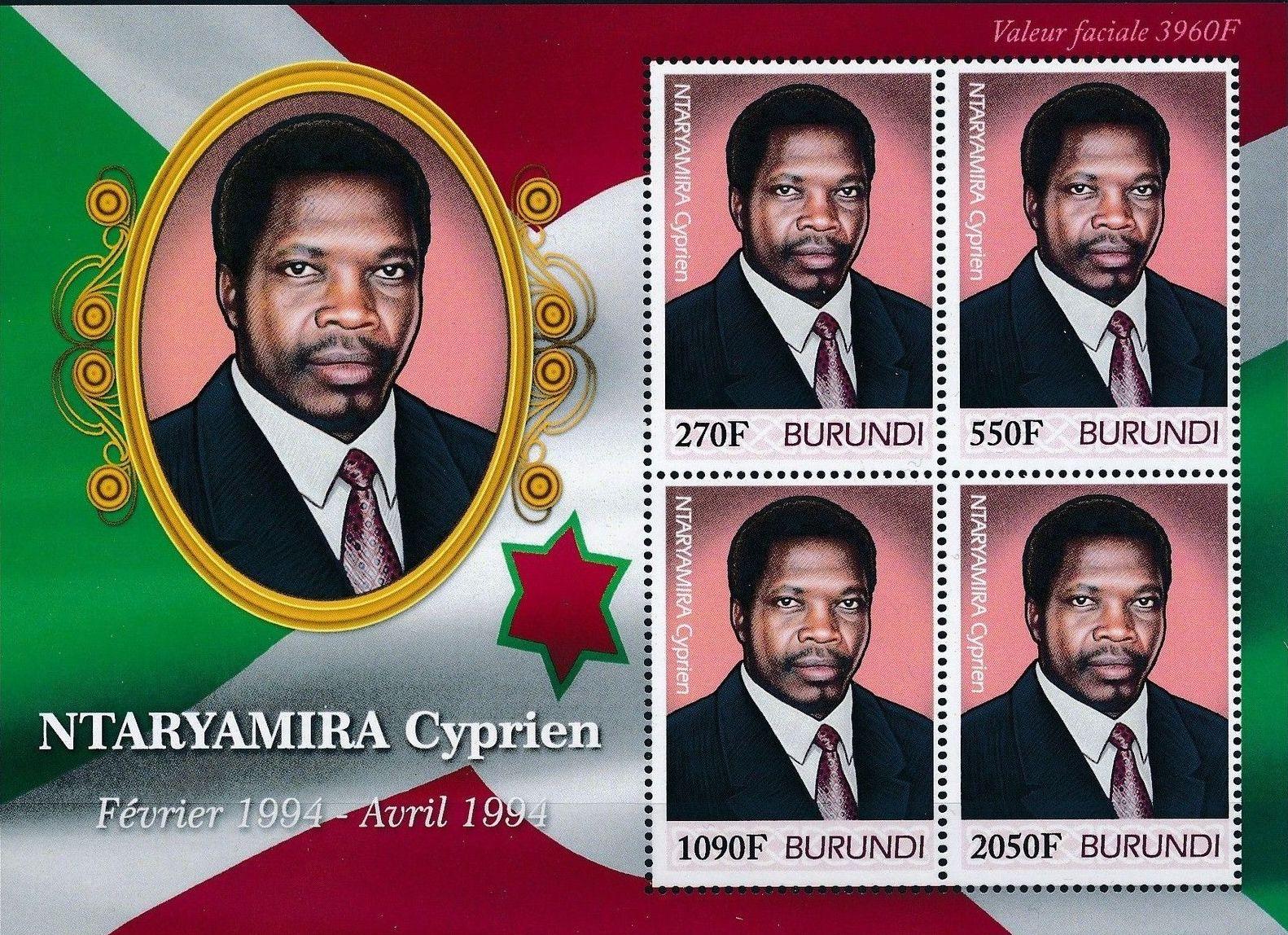 Burundi 2012 Presidents of Burundi - Cyprien Ntaryamira g.jpg