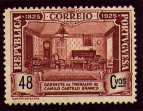 Portugal 1925 Birth Centenary of Camilo Castelo Branco o.jpg
