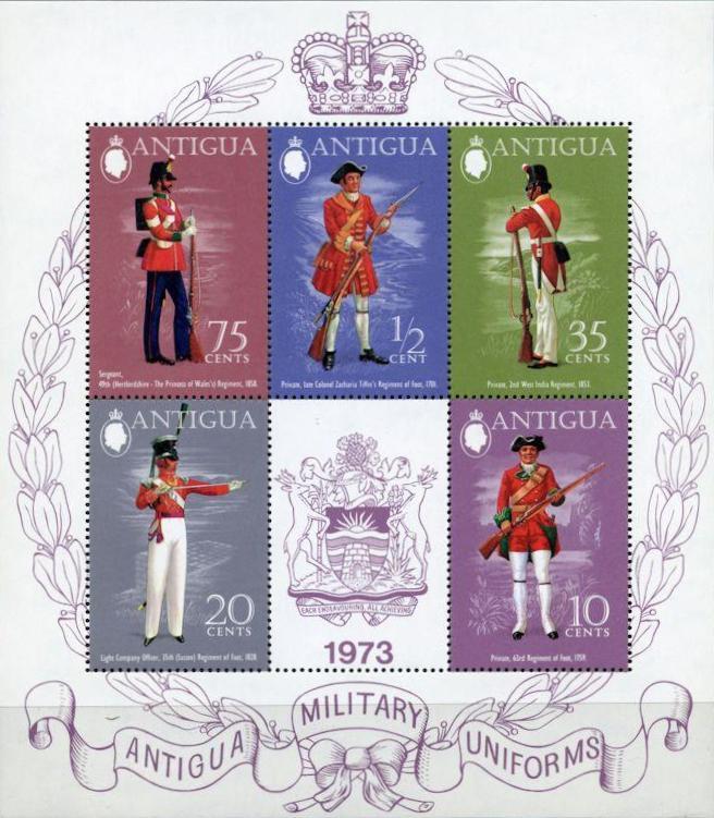 Antigua 1973 Military Uniforms