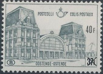 "Belgium 1971 Ostend Station Surcharged with New Value and ""X"" b.jpg"