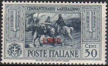 Italy (Aegean Islands)-Lipso 1932 50th Anniversary of the Death of Giuseppe Garibaldi d.jpg
