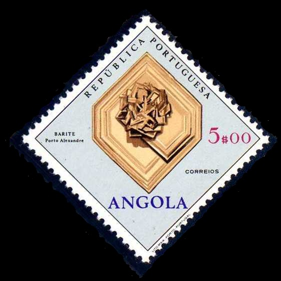 Angola 1970 Fossils and Minerals from Angola m.jpg