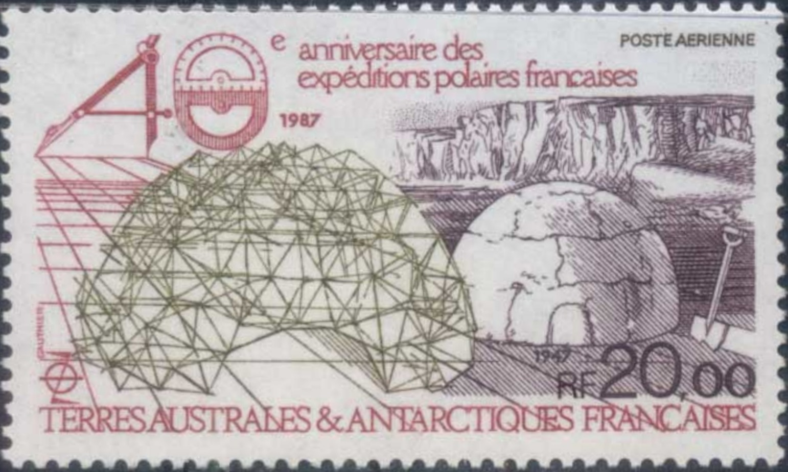 French Southern and Antarctic Territories 1988 40th Anniversary of the French Polar Expeditions a.jpg