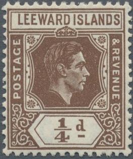 Leeward Islands 1938 King George VI
