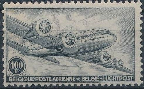 Belgium 1946 Air Post Stamps d.jpg