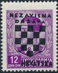 Croatia 1941 Peter II of Yugoslavia Overprinted in Black l.jpg
