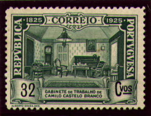 Portugal 1925 Birth Centenary of Camilo Castelo Branco m.jpg