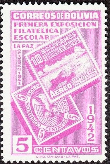Bolivia 1942 First Students' Philatelic Exhibition a.jpg