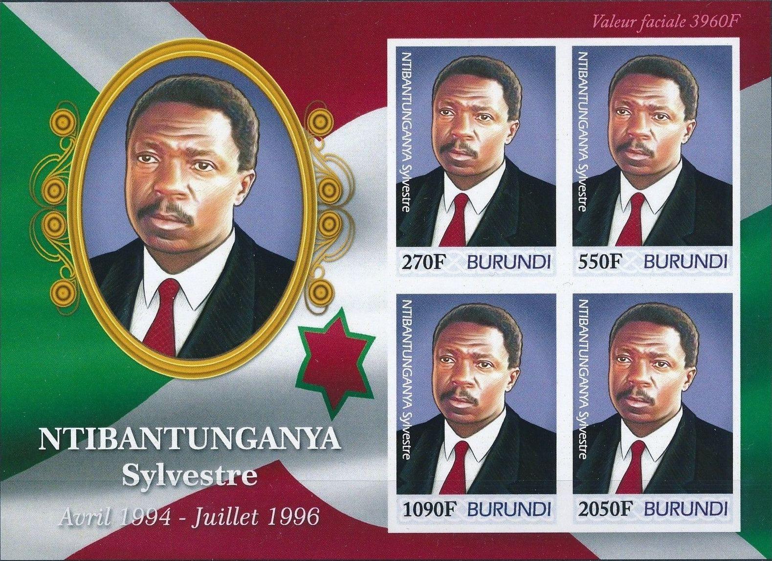 Burundi 2012 Presidents of Burundi - Sylvestre Ntibantunganya h.jpg
