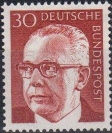 Germany, Federal Republic 1971 President Gustav Heinemann (3rd Group)