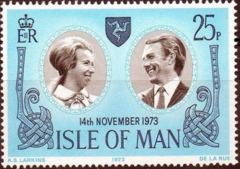 Isle of Man 1973 Wedding of Princess Anne and Capt. Mark Phillips
