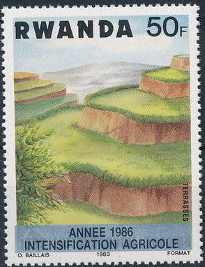 Rwanda 1986 Soil Erosion Prevention (Surcharged and Overprinted) g.jpg