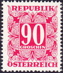 Austria 1950 Postage Due Stamps - Square frame with digit (2nd Group) b.jpg