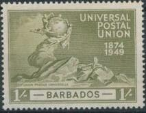 Barbados 1949 75th Anniversary of Universal Postal Union UPU d.jpg
