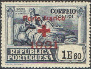 Portugal 1931 Red Cross - 400th Birth Anniversary of Camões e.jpg