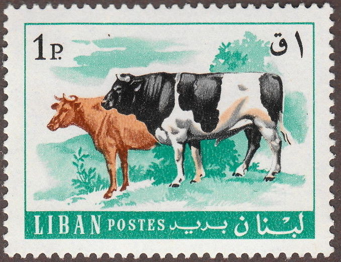 Lebanon 1968 Farm Animals b.jpg