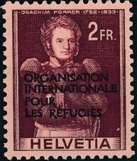 Switzerland 1950 Landscapes and Technology Official Stamps for The International Organization for Refugees k.jpg