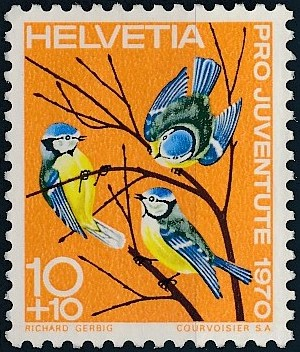 Switzerland 1970 PRO JUVENTUTE - Birds