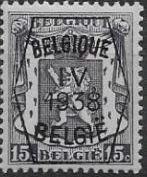 Belgium 1938 Coat of Arms - Precancel (4th Group)