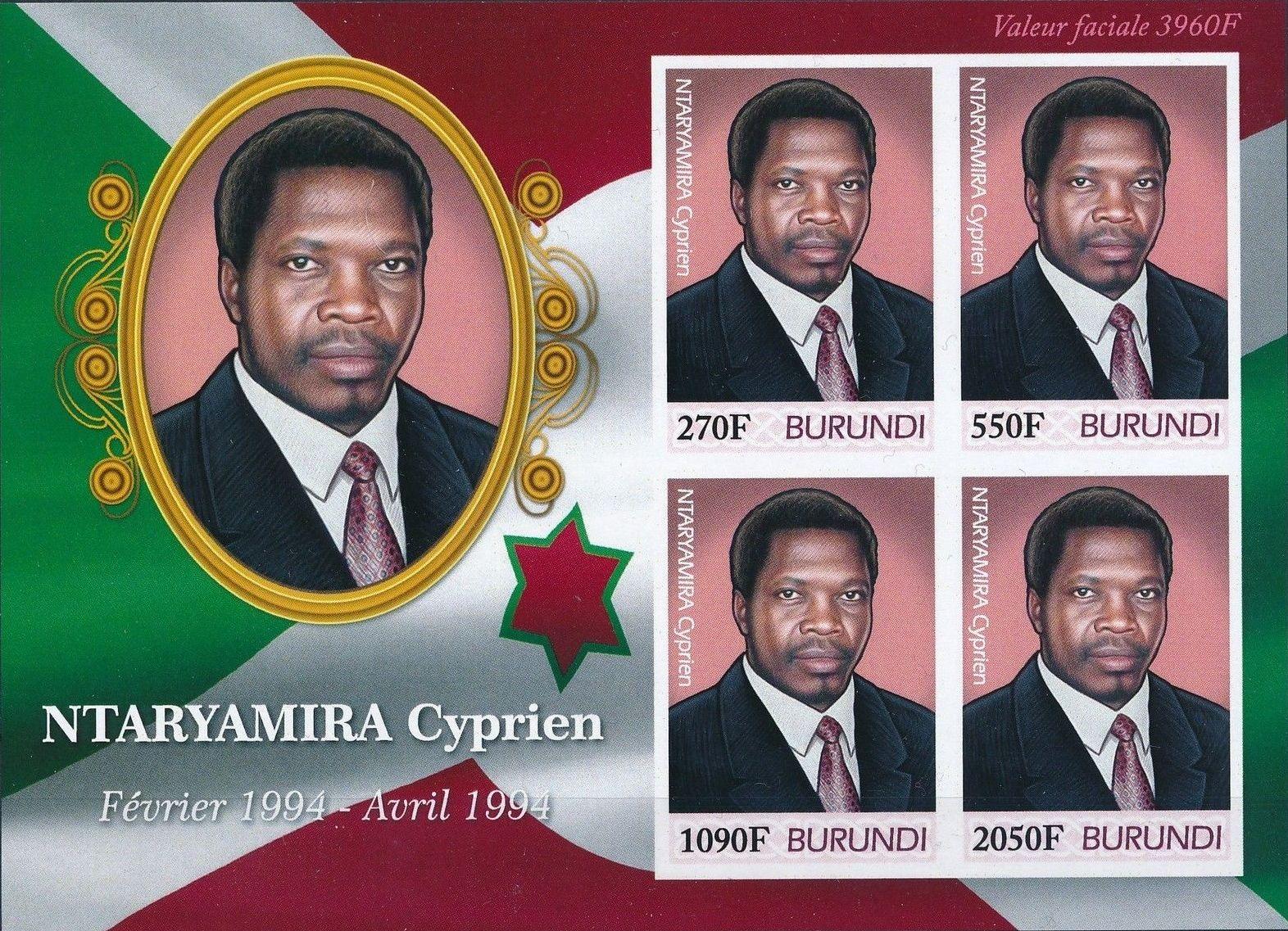 Burundi 2012 Presidents of Burundi - Cyprien Ntaryamira h.jpg