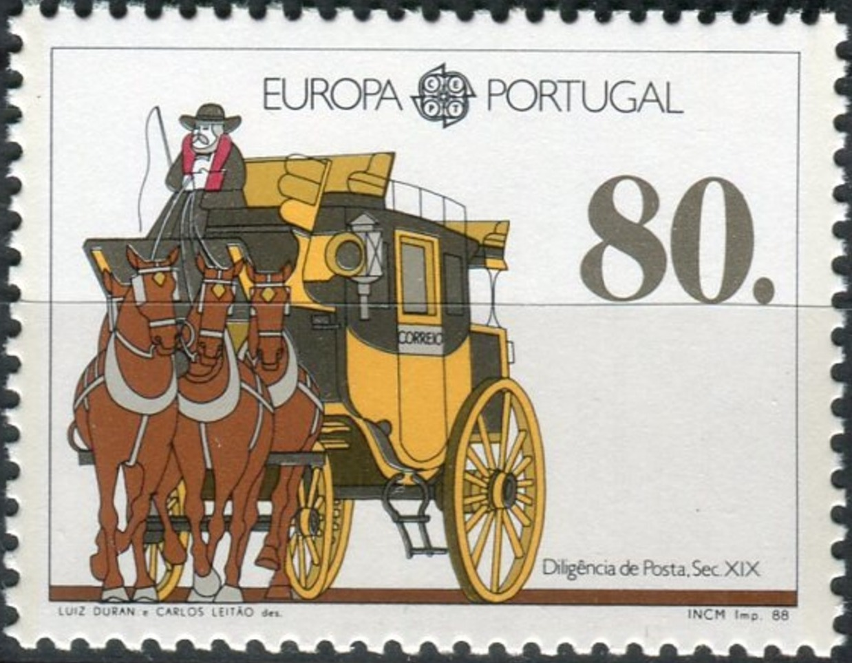 Portugal 1988 Europa - Transports and Communications