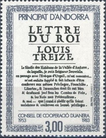 Andorra-French 1983 30th Anniversary of Customs Cooperation Council