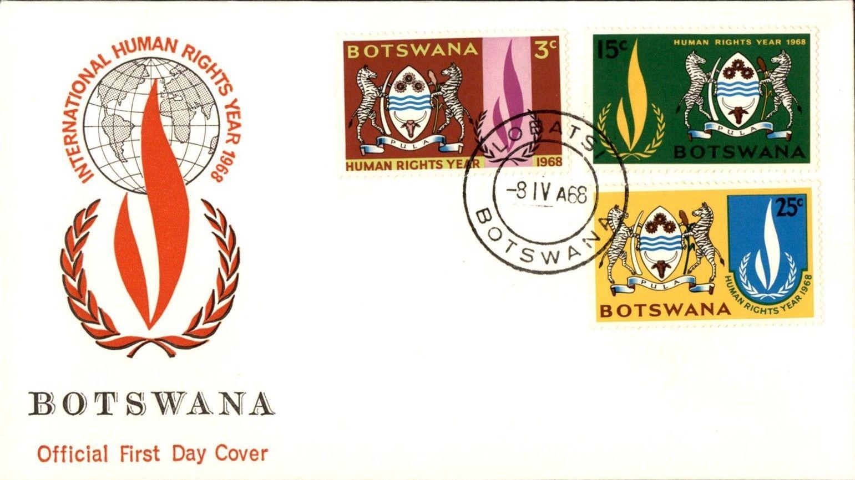 Botswana 1968 International Human Rights Year FDCa.jpg