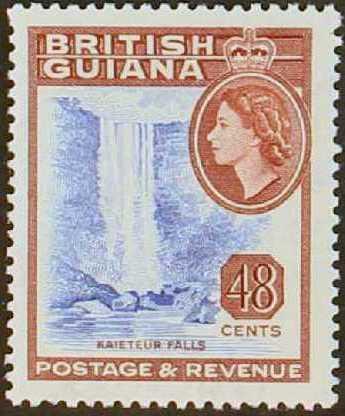 British Guiana 1954 Elizabeth II and Local Scenes k.jpg
