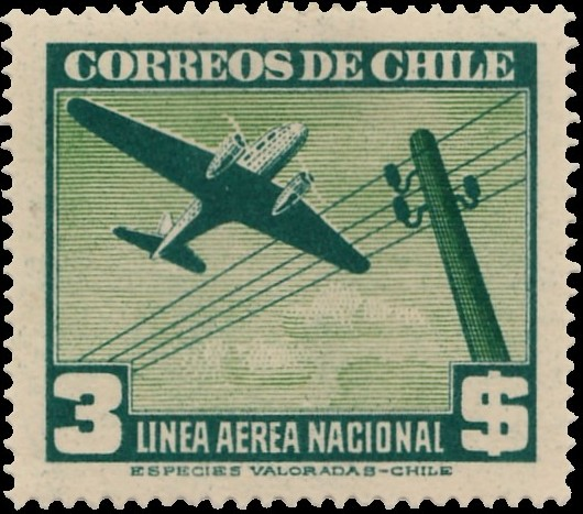 Chile 1941 Air Post Stamps (Type 1941) j.jpg