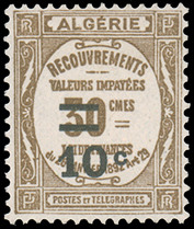 Algeria 1932 Postage Due Stamps (Type Recouvrements) Surcharged
