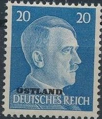 German Occupation-Russia Ostland 1941 Stamps of German Reich Overprinted in Black k.jpg