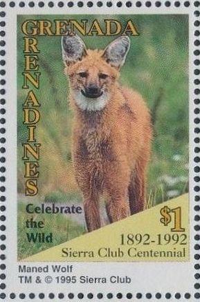 Grenada Grenadines 1995 100th Anniversary of Sierra Club - Endangered Species o.jpg