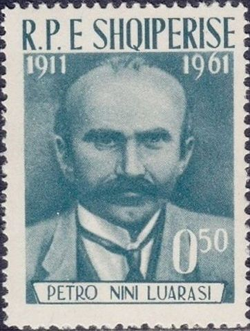 Albania 1962 50th Anniversary of the Death of Petro Nini Luarasi