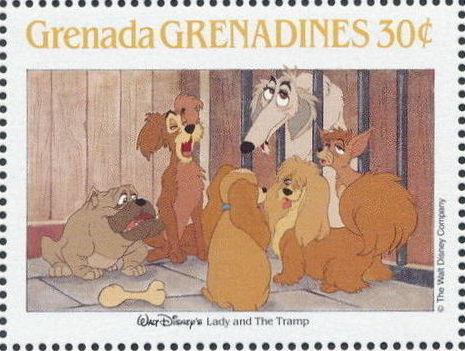 Grenada Grenadines 1988 The Disney Animal Stories in Postage Stamps 5g.jpg