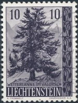 Liechtenstein 1957 Native Trees and Shrubs (1st Group)
