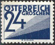 Austria 1932 Postage Due Stamps (Digit and Triangles) 5th Issue