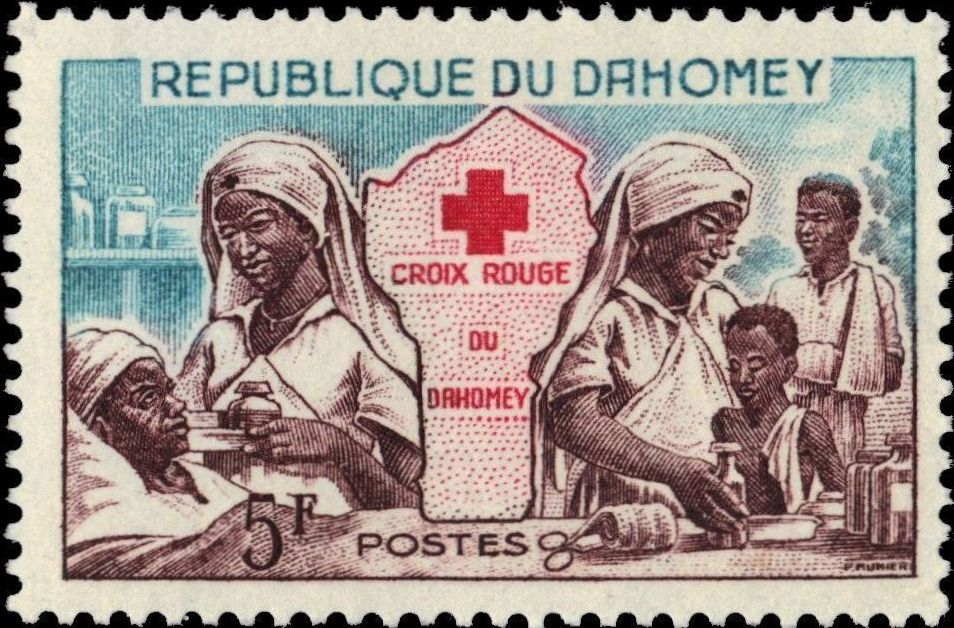 Dahomey 1962 Red Cross