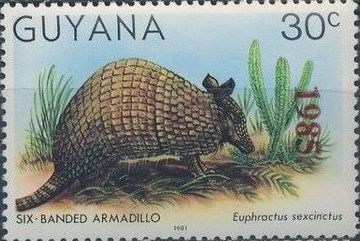 Guyana 1985 Wildlife (Overprinted 1985) g.jpg